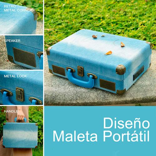 Dodocool DA187BL Tocadiscos de Maleta 1